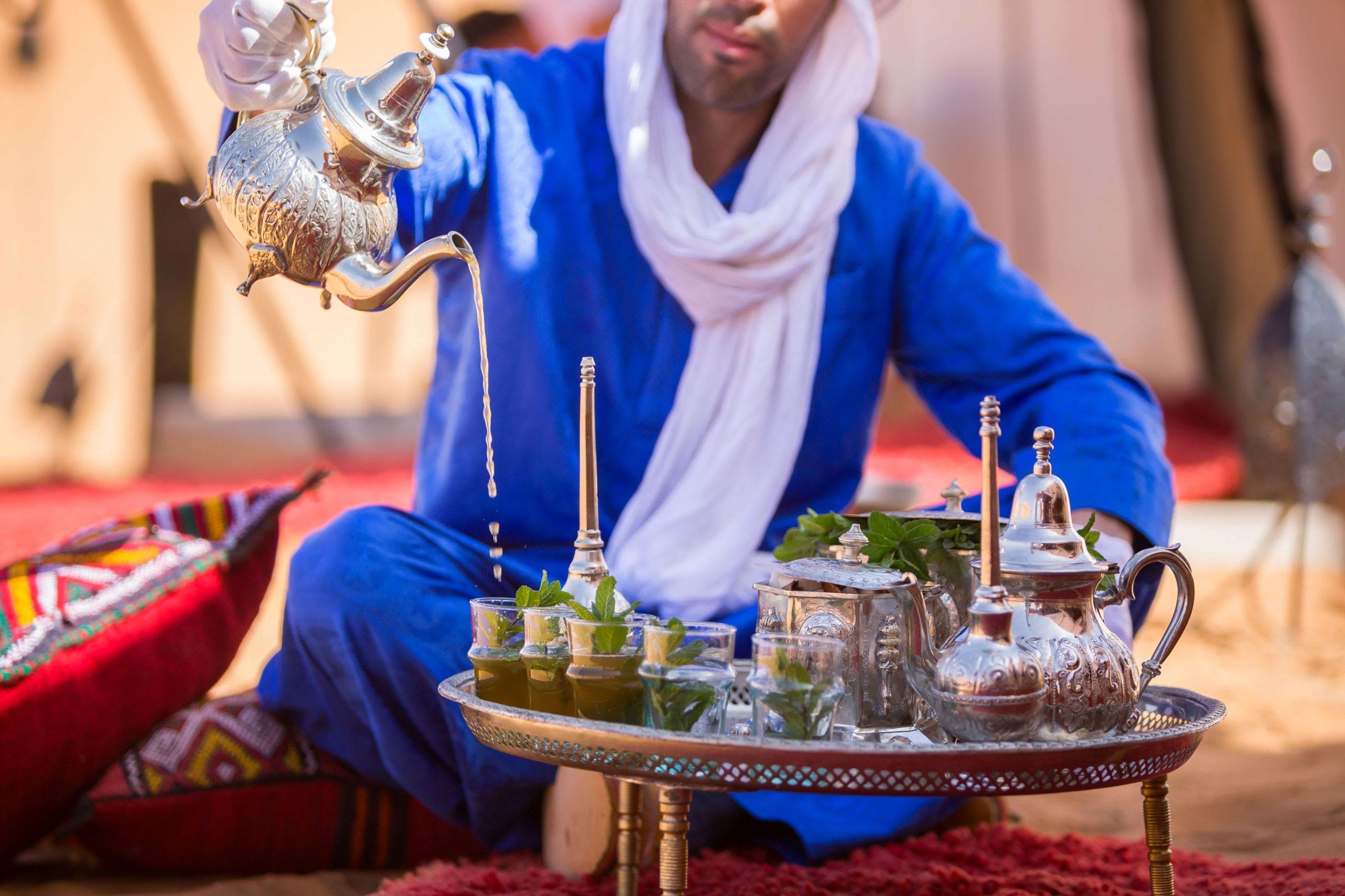 Tea making in the desert
