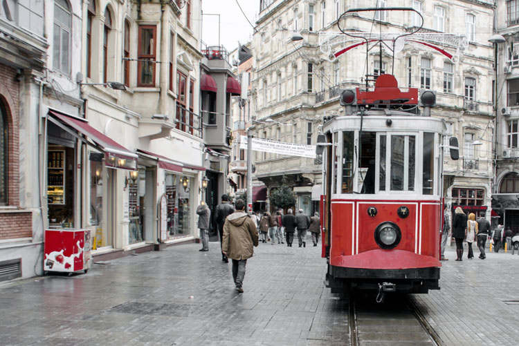 Tram in Istanbul Turkey