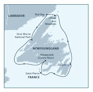 Newfoundland Circumnavigation itinerary