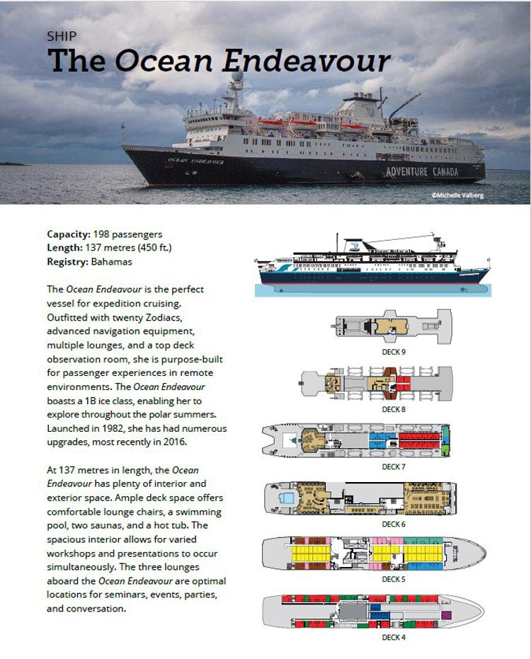 Ocean Endeavour Deck Plan