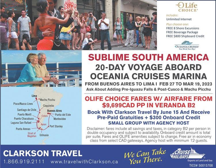 Oceania Cruises Sublime Aouth America