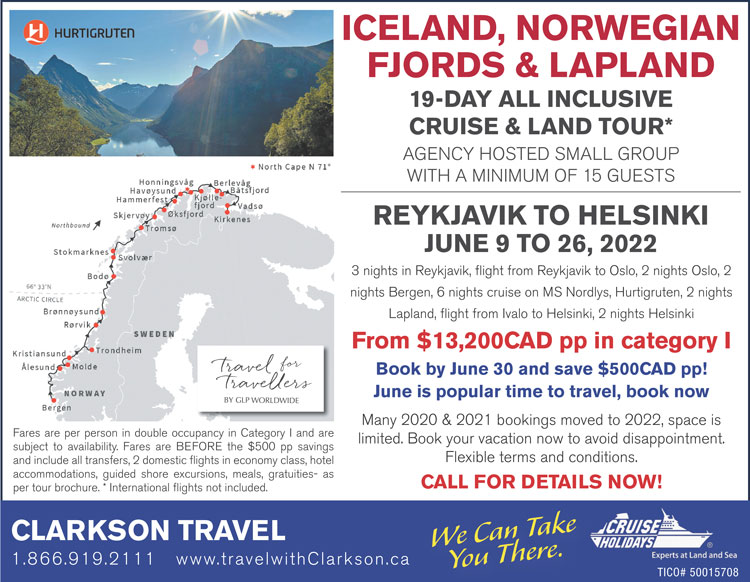 Globe & Mail ad northern europe discovery