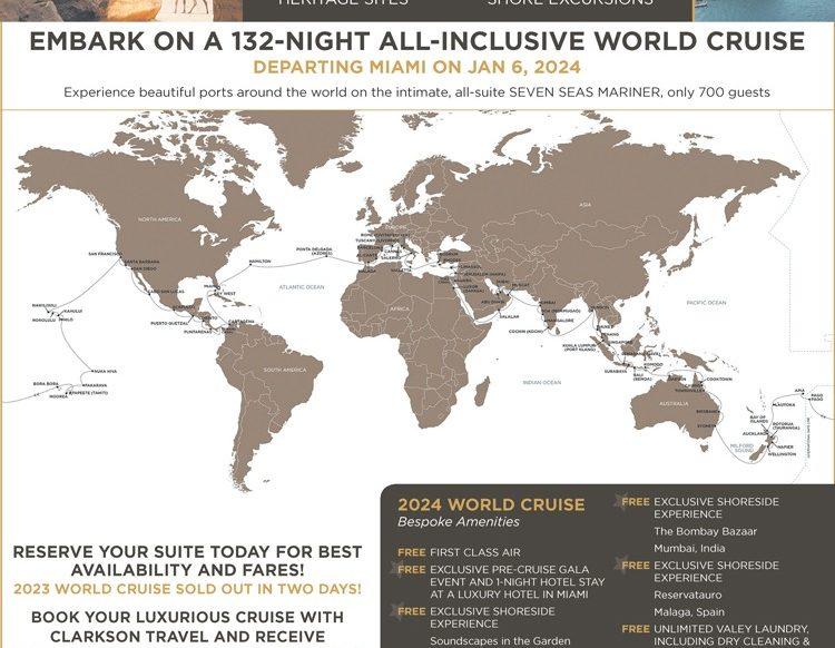 Regent 2024 World Cruise