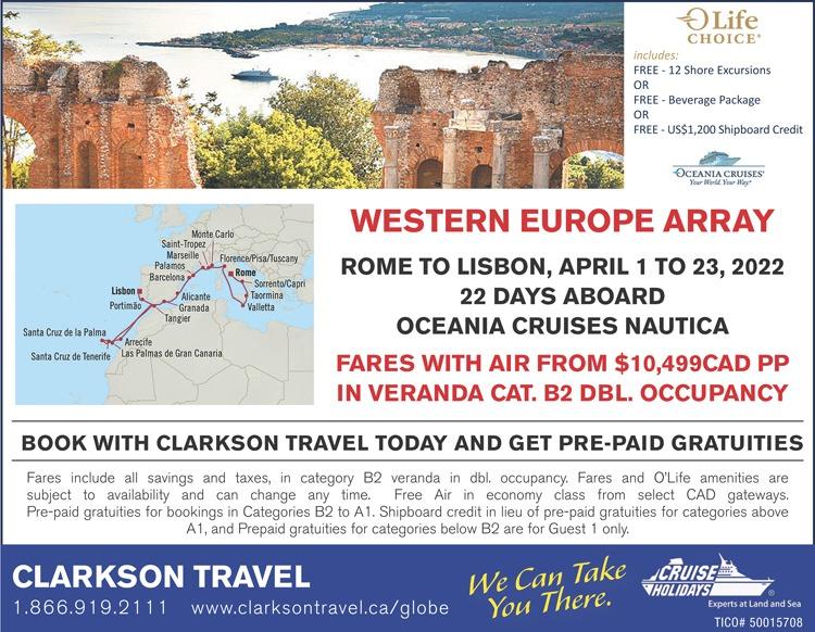 Oceania Western Eur Array